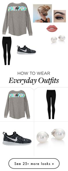 """Everyday outfits"" by http-tayrae on Polyvore featuring Wolford, NIKE, Lime Crime and Mikimoto"