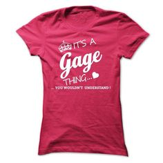 Its A GAGE Thing - #hoodie outfit #sweater shirt. GET IT => https://www.sunfrog.com/Names/Its-A-GAGE-Thing-qfzka-Ladies.html?68278
