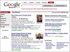 First version of Google News.