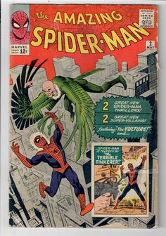 AMAZING SPIDER-MAN (V1) #2 - Grade 3.0 - Silver Age classic: 1st VULTURE!  http://www.ebay.com/itm/AMAZING-SPIDER-MAN-V1-2-Grade-3-0-Silver-Age-classic-1st-VULTURE-/292054656305?roken=cUgayN&soutkn=aO0yYz