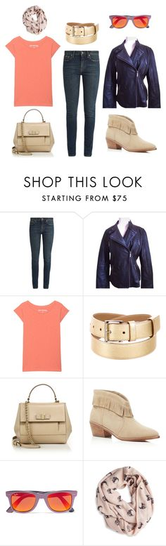 """283287"" by shineapple on Polyvore featuring Yves Saint Laurent, Michael Kors, True Religion, Prada, Salvatore Ferragamo, Joie, Ray-Ban and 360cashmere"