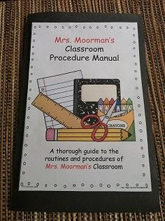 Even the paid version is worth spending some dollars. Mrs. Moorman's materials are terrific!  This is so genius!  Give the kids a manual so they know all of the classroom procedures!