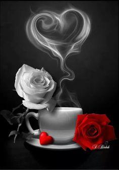 - Morgen - Guten morgen bilder - Chemistry Informations Love Heart Images, Love You Images, Rose Flower Wallpaper, Heart Wallpaper, Beautiful Rose Flowers, Beautiful Gif, Coffee Love, Coffee Art, Splash Photography