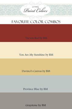 Color Combinations for Tucson Red | Favorite Paint Colors Blog: