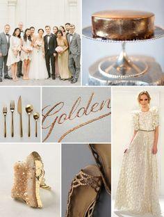 --> wedding board ideas = Gold Palette