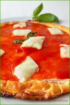 Pizza Margherita di Pane Nuvola Ripiena Low Carb e Proteica
