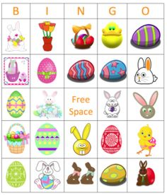 Click here to get your free printable for Easter bingo!