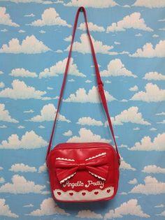 Scallop Heart Logo Shoulder Bag in Red from Angelic Pretty - Lolita Desu