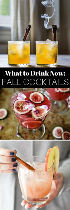 What to Drink Now ~ Fall is the BEST cocktail season...think cranberry, maple, apple, pear, fig, pumpkin, woodsy herbs and warm smokey spices ~ check out this gorgeous Autumn inspired cocktail collection and get ready to discover your new favorite cozy sip... #cocktails #fall #fallcocktails #drinks #beverages #entertaining #holidaycocktails
