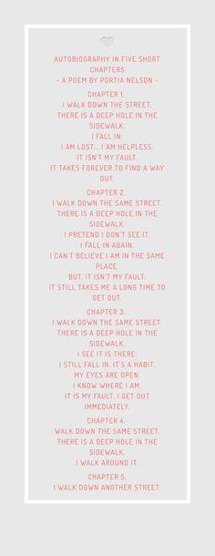 Gedicht van Portia Nelson