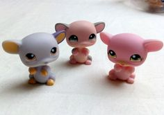 Littlest Pet Shop 1434 1048 1168 Mouse Mice Bundle LPS Figure HASBRO Toy