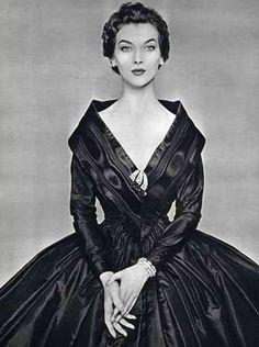 1950s taffeta dress