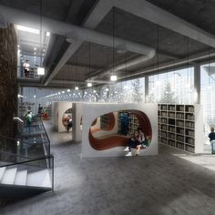 Daegu Gosan Public Library Competition Entry / Various Architects -something for the children in the foyer