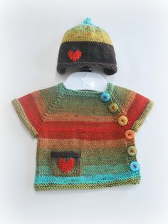 Newborn hat and cardigan: this uses the Puerperium Cardigan pattern from ravelry.  See sticks-strings.blogspot for info.