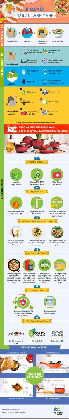 Bí quyết nấu ăn lành mạnh của Royalcooks - Infographic