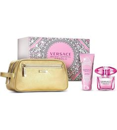 Versace Bright Crystal Absolu 3.4 oz EDP 3 Piece Gift Set for woman
