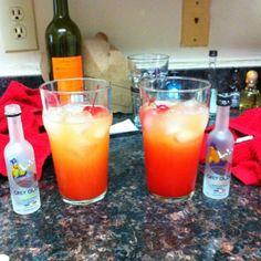 Grey Goose, Pineapple Juice, Grenadine, Cherries.