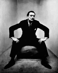 "Salvador Dali ""in the corner"" series by Irving Penn"