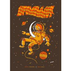 I did this gig poster for @ufomammut back in 2010 when they played at Arena, Vienna. #ufomammut #gigposter #screenprint #siebdruck #arenawien #astronaut #illustration #mammothtusk #mammoth #tusk #rockposter #michaelhackerillustration