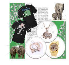 """Elephants :)"" by hetkateta ❤ liked on Polyvore featuring vintage"