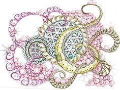 , Zentangle Drawing, Zentangles Doodles, Zentangle Art, Art Zentangle ...