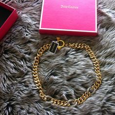 Fixed price. Juicy Couture link necklace Fixed price. Juicy Couture link necklaces Juicy Couture Jewelry Necklaces