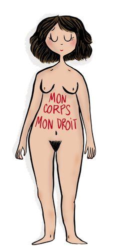 CDH: Mon corps mon droit >> Illustration pour mon blog perso Crayon d'Humeur www.crayondhumeur.com