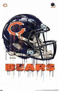 Chicago Bears Man Cave, Chicago Bears Helmet, Nfl Chicago Bears, Nfl Football Players, Football Helmets, Chicago Bears Wallpaper, Chicago Bears Pictures, Basketball Posters, Nfl San Francisco