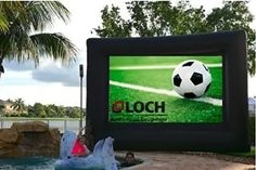 Inflatable Front and Rear Projection Portable Movie Screen Blow up Outdoor Diagonal Total (View Area ; Short Throw Projector, Movie Projector, Outdoor Projector Screens, Mickey Movie, Inflatable Movie Screen, Outdoor Movie Screen, Cinema Experience, Behind The Screen, Backyard Movie