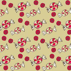 Peppermint Candy Christmas fabric by droyal on Spoonflower - custom fabric