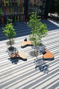 09_town-hall-square_¸-scape « Landscape Architecture Works | Landezine Landscape Architecture Works | Landezine: