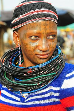 Africa: A Peul woman photographed at Natitangou market, Benin, west Africa