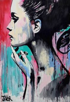 "nose piercing and a red chunni and the women should be smiling) Saatchi Art Artist Loui Jover; Painting, ""perhaps again"" Art And Illustration, Arte Pop, Wal Art, Fine Art, Painting Inspiration, Portrait Inspiration, Painting & Drawing, Amazing Art, Graphic Art"