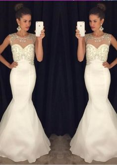 Floor Length Mermaid White Open Back Jewel Crystals Satin Sleeveless Ruched Homecoming / Prom Dresses