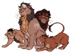 By johannathemad on tumblr - So cuteee >w< I love shiro's exasperated face - Lion King x Voltron