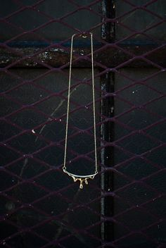 Brass Drip Necklace  Liquid Gold Necklace by LauraBusony on Etsy, $78.00