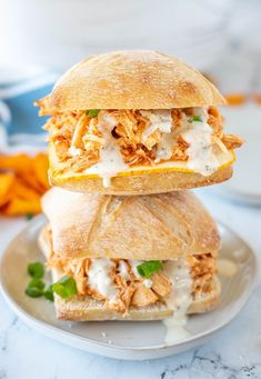Shredded buffalo chicken always comes out super tender and has a nice kick to it from the spicy buffalo sauce. The best part is my buffalo chicken sandwiches are made in the Crock Pot for even easier cooking and cleanup. #Crockpot #Buffalo #easydinner Buffalo Chicken Pasta Salad, Shredded Buffalo Chicken, Buffalo Chicken Sandwiches, Chicken Sandwich Recipes, Homemade Buffalo Sauce, Cheap Meals, Easy Cooking, Side Dish Recipes, Food Photo