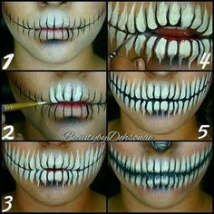 Skull Mouth Makeup.