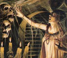 Retro Horror, Vintage Horror, Vintage Gothic, Horror Show, Horror Art, Halloween Horror, Halloween Art, Halloween Coloring, Fantasy Paintings