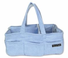 """STORAGE CADDY- Blue Ultra Suede Body and Lining w/ Blue Ultra Suede Trim 13"""" x 9"""" x 6 1/4; Two 15"""" Handles Item #:102311 Regular price:$22.73"""