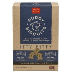 Amazon.com: Cloud Star Itty Bitty Buddy Biscuits Dog Treats, Bacon and Cheese Madness, 8-Ounce Boxes (Pack of 6): Pet Supplies