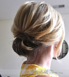 DIY How to Chic Updo_wispy - Small Things Blog