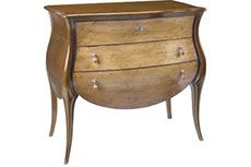 French Heritage,Jacqueline Chest/Commode 35.5 w x 19.5 d x 34 h Finish antique cherry w/ sun bleached cherry drawers  FOYER OPTION