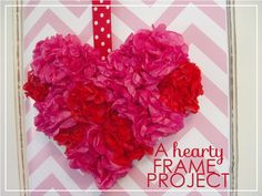 mod this to make mini tissue paper cardboard hearts in all different colors