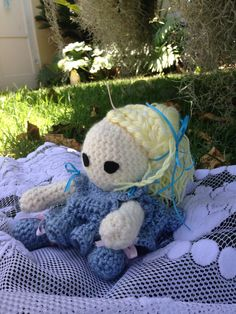A personal favorite from my Etsy shop https://www.etsy.com/listing/238095680/crochet-doll-marie-antoinette-doll-bed