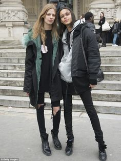 BFFs: Lexi (left) and Binx (right) pictured together during Paris Haute Couture Week...
