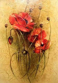 kırmızı çiçek yağlı boya resimleri ile ilgili görsel sonucu