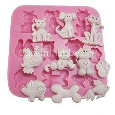 Treat Molds!!! Cat Dog Pig Baking  Mold,L8.5m*W8.5cm*H1.1cm | LightInTheBox