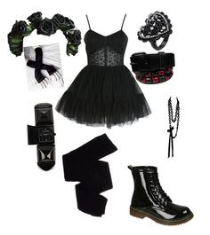 Goth Party Outfit by vittoria-lampo Grunge Outfits, Cute Emo Outfits, Punk Outfits, Gothic Outfits, Retro Outfits, Fashion Outfits, Alternative Outfits, Alternative Mode, Alternative Fashion