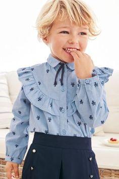 Blue Cat Jacquard Shirt (3mths-6yrs)